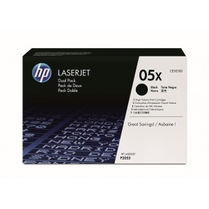 HP 05X Black Dual Pack